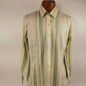 Orvis Shirt Size 14 Button Front Long Sleeve